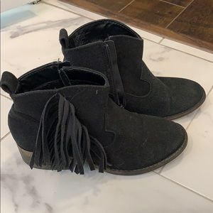 Fringed ankle boots from Justice